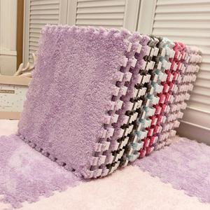 少女房间床下床边公主简约毛毛地毯