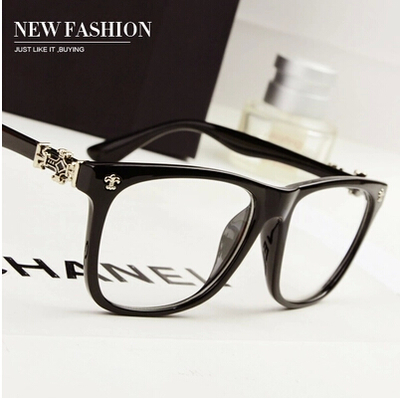 Retro myopic mirror Joker Xues same glasses, mens and womens tide radiation flat mirror can be fitted with glasses frame.