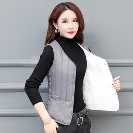 秋冬羽絨棉馬甲女加絨短款新款輕薄修身內穿貼身背心加厚保暖內膽圖片