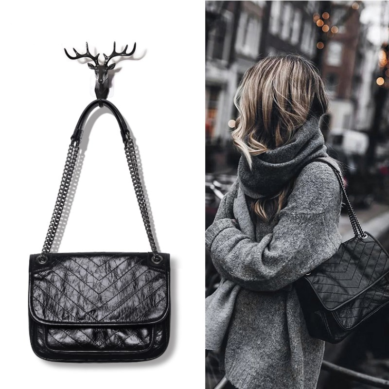 CK womens bag chain bag women 2020 new fashion Niki retro One Shoulder Messenger Bag stray bag