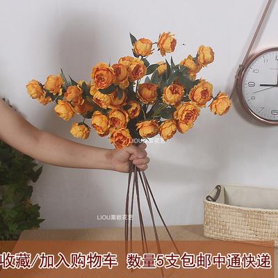牡丹花假花婚庆仿真花 手捧花束装饰花 花艺用品绢花客厅摆件摆设