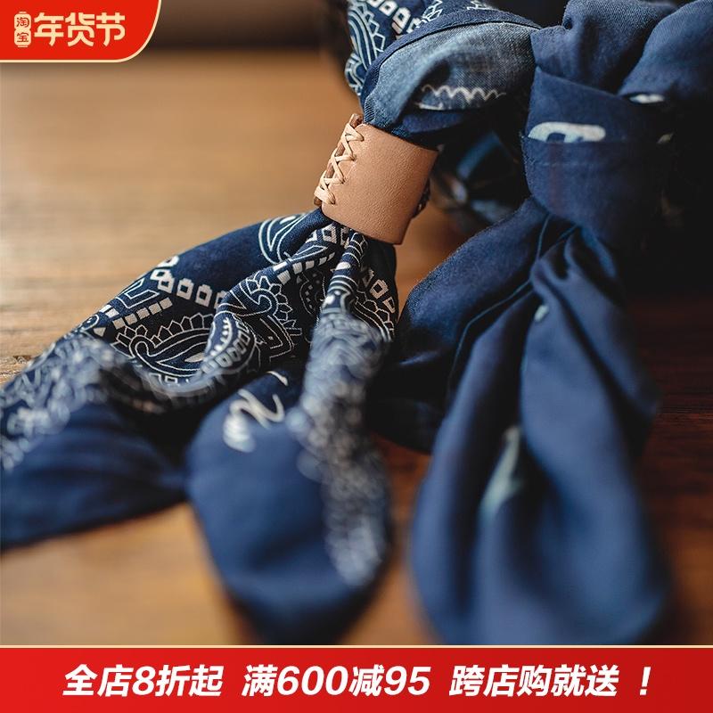 马登工装 日系复古腰果花方巾饰品阿美咔叽vintage礼服胸巾头巾男