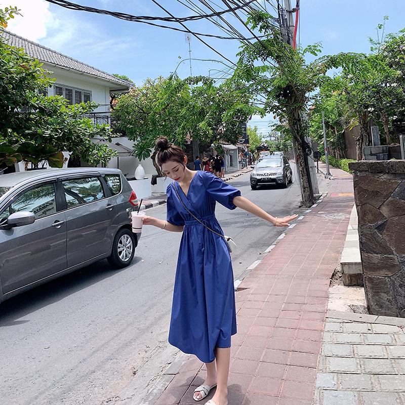 仙气春季2020新款法式收腰仙女裙