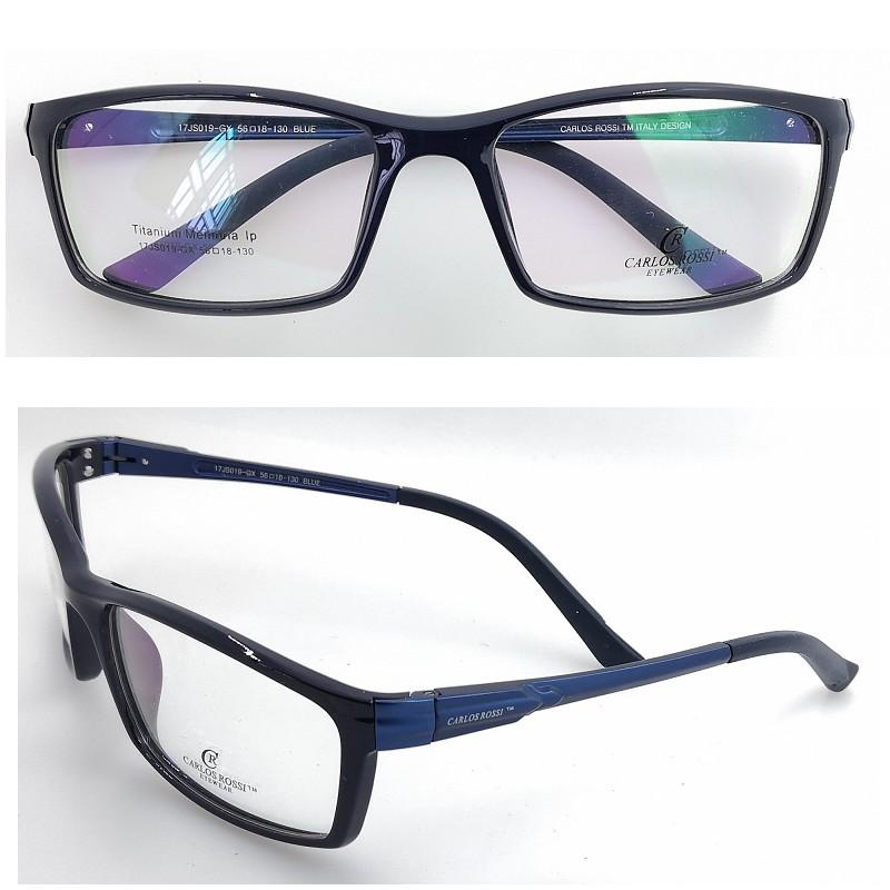 超轻时尚中脸酷男高档铝镁脚TR90亮蓝运动全框近视眼镜框平光镜