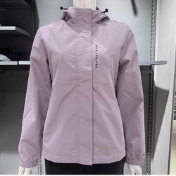 鸿星尔克女装2021秋季新款加厚风衣连帽防风运动外套12221381331