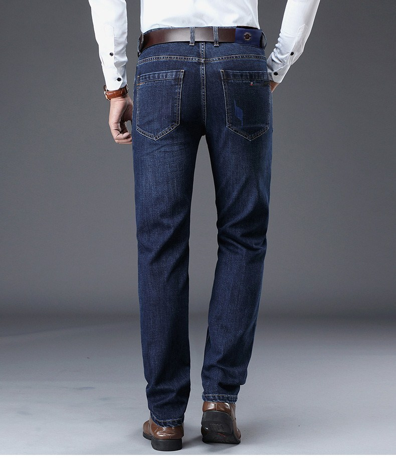 2019 Spring Summer New Style Jeans Men's Loose Business Casual Pants Mid-Rise Straight-Leg Fashion L Long Pants