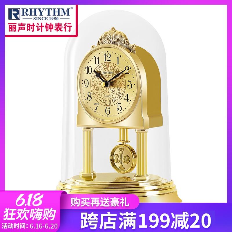 日本丽声台钟欧式客厅卧室静音现代时尚创意艺术钟摆座钟表4RP777 Изображение 1