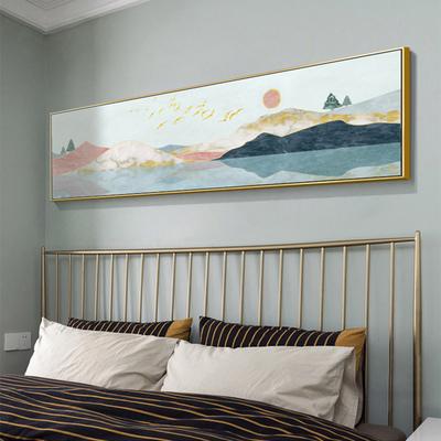 床头画卧室装饰画现代简约温馨客厅挂画房间大海风景酒店壁画创意
