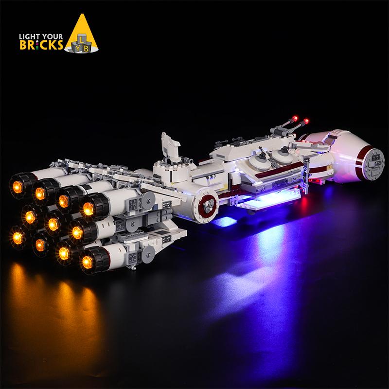 适用星球大战75244坦地夫四号飞船LED配套灯饰灯光组
