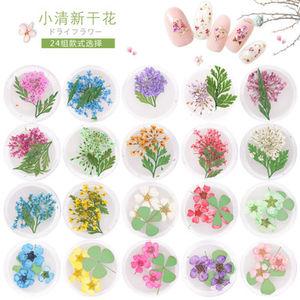 美甲干花饰品小清新立体植物小雏菊永生花叶子紫阳花花仙子真花