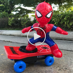 儿童奥特曼玩具电动滑板车会走路唱歌机器人1-2-3-6周岁男孩玩具4