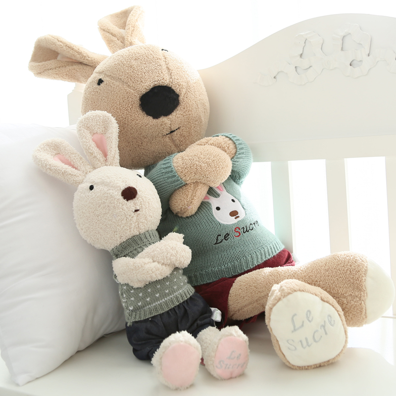 萌小兔子公仔毛绒玩具情侣兔玩偶女生可爱宝宝公主抱睡布娃娃