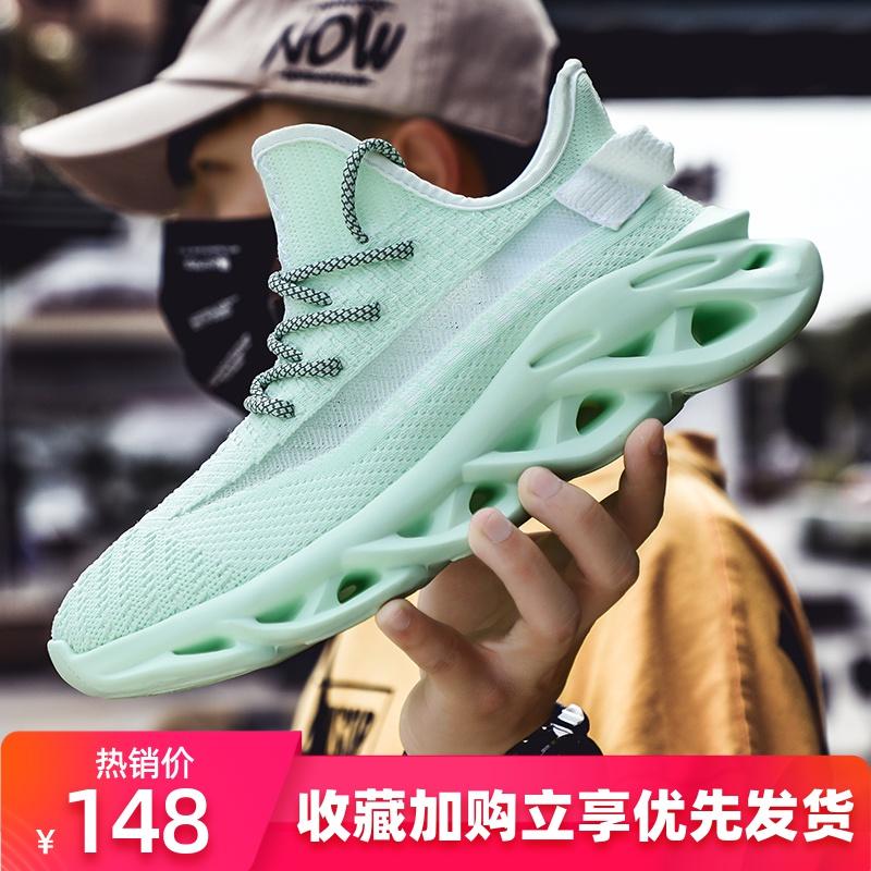 邮心2020新款潮流飞织运动透气网面流行休闲潮鞋男鞋运动鞋椰子鞋