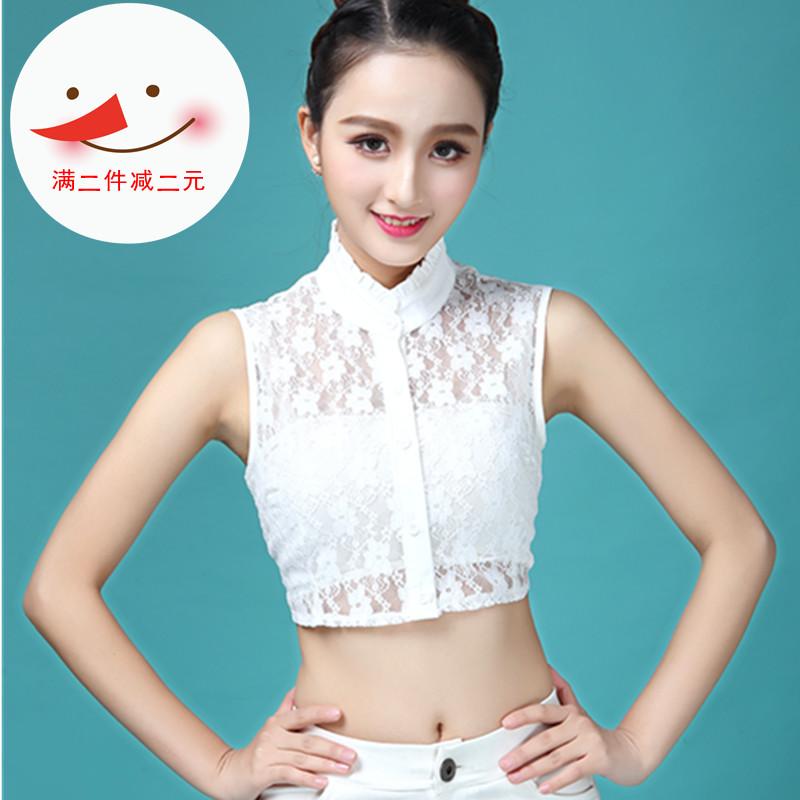 Новые товары кружево поддельные воротник блузка корейский женщина поддельные воротник декоративный воротник сладкий рубашка дикий ложный воротник зима