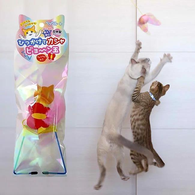 日本のpetz-routeのドアを挟んで、猫の棒をからかう羽を自由にぶら下げる式の鳥狩りの弾力性の縄は猫のおもちゃから来ます。