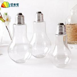 塑料仿真灯泡透明塑料灯泡 花瓶 吊饰幼儿园DIY创意空中吊饰挂饰