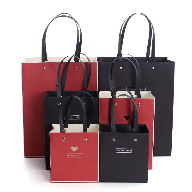 婚礼回礼手提袋 节日礼品袋 精美简约包装袋纸袋 送礼礼物袋拎袋