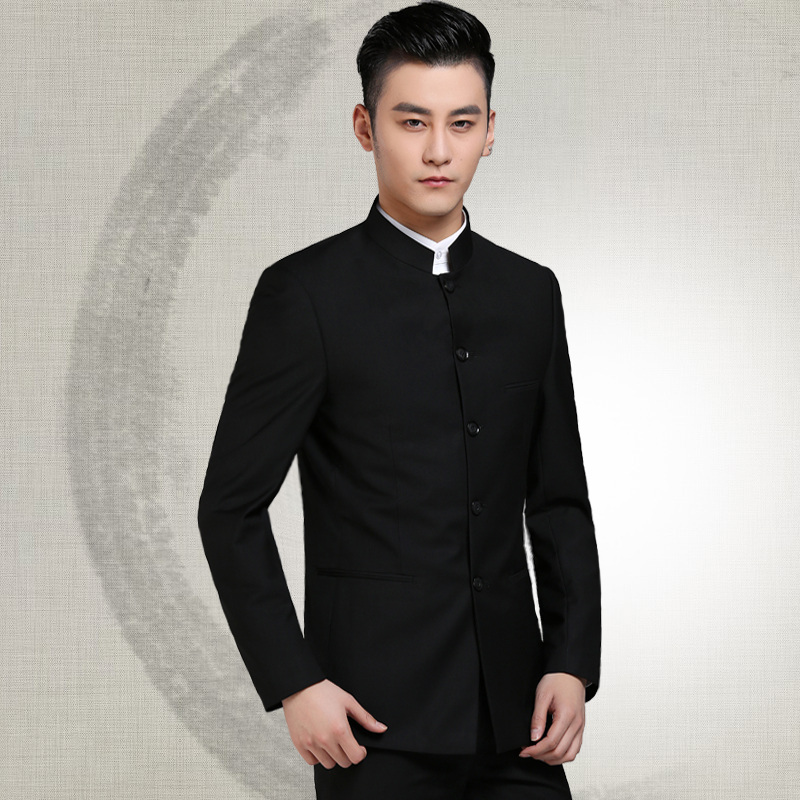 Autumn and winter new products Chinese mountain wear mens youth suit Chinese leader Korean slim suit fashion leisure Chinese dress