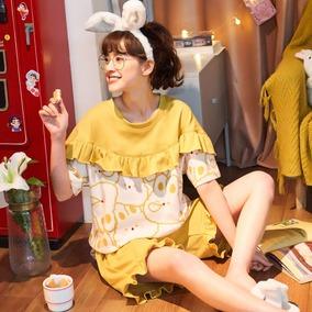 纯棉短袖可爱甜美潮流韩版睡衣