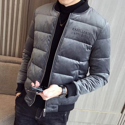 [新景]2018冬装新款丝绒棉衣 A011-D81*P125[限价168]灰色