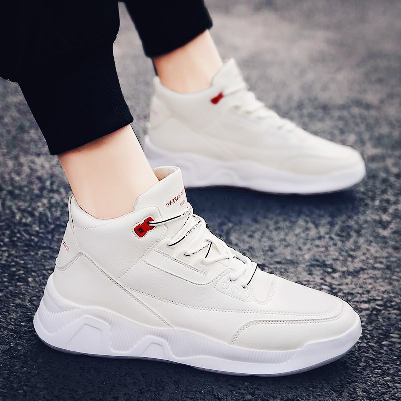 Mens fashion shoes board shoes mens shoes autumn versatile mens casual small white shoes winter 2019 new sports high top shoes