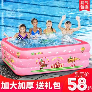 兒童充氣游泳池家庭大號户外戲水池小孩室內加厚家用池寶寶游泳桶