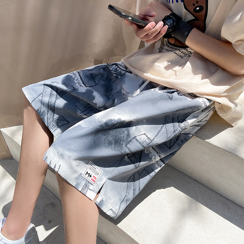Hong Kong Style camouflage Street Shorts Large Size loose hip hop beach Capris fashion brand summer lovers sports pants