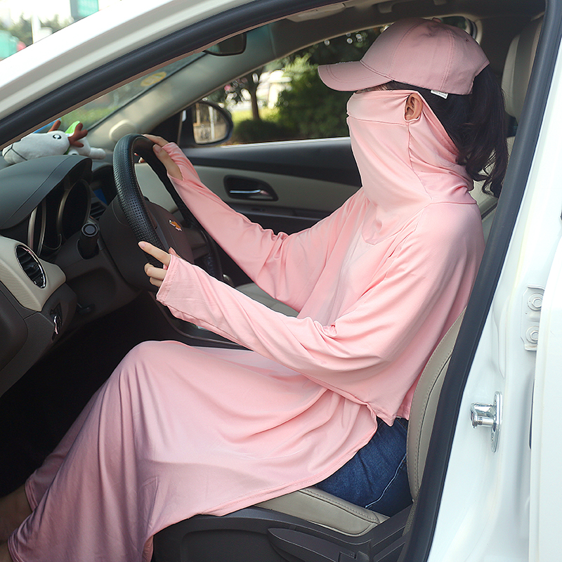 抖音同款开车学车防晒神器披肩女夏日本uv防晒衣长款2020防紫外线