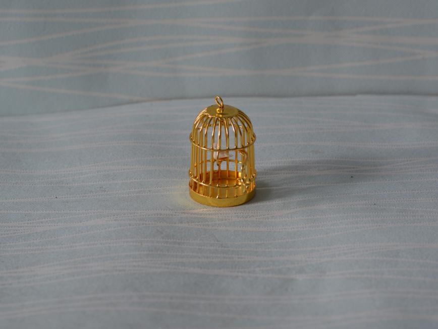 1:12 娃娃屋dollhouse场景模型配件金丝鸟笼A100
