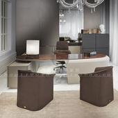 后现代轻奢电脑桌宾利书桌椅定制Bentley书桌 现代简约大班桌办公