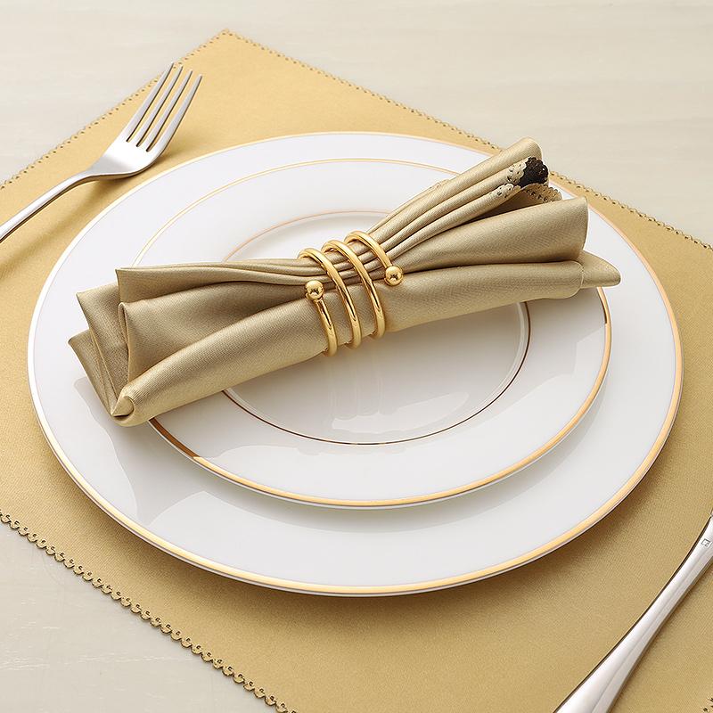 欧式骨瓷西餐盘子西餐餐具牛排盘子平盘点心盘白色家用刀叉牛扒盘