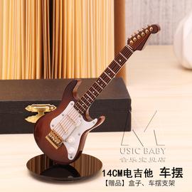 吉他车摆迷你木质小提尤克里里电吉他电贝斯钢琴古筝模型蛋糕摆件图片