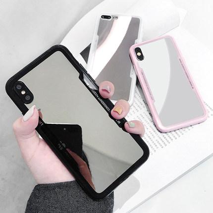 补妆镜子潮牌xr苹果xsmax xs手机壳