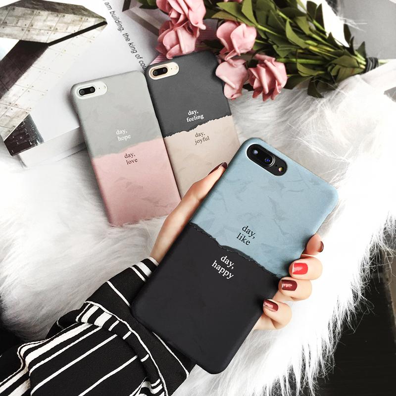 冷淡风ins超火的手机壳iPhoneXsmax/Xr/8/7plus/6sp苹果X情侣硬壳