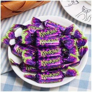 俄罗斯紫皮进口原装正品喜糖巧克力