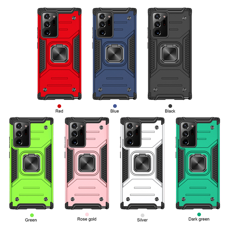 Suitable for Samsung S21 ultra ring Kemeng armor mobile phone case s21plus fall protection case
