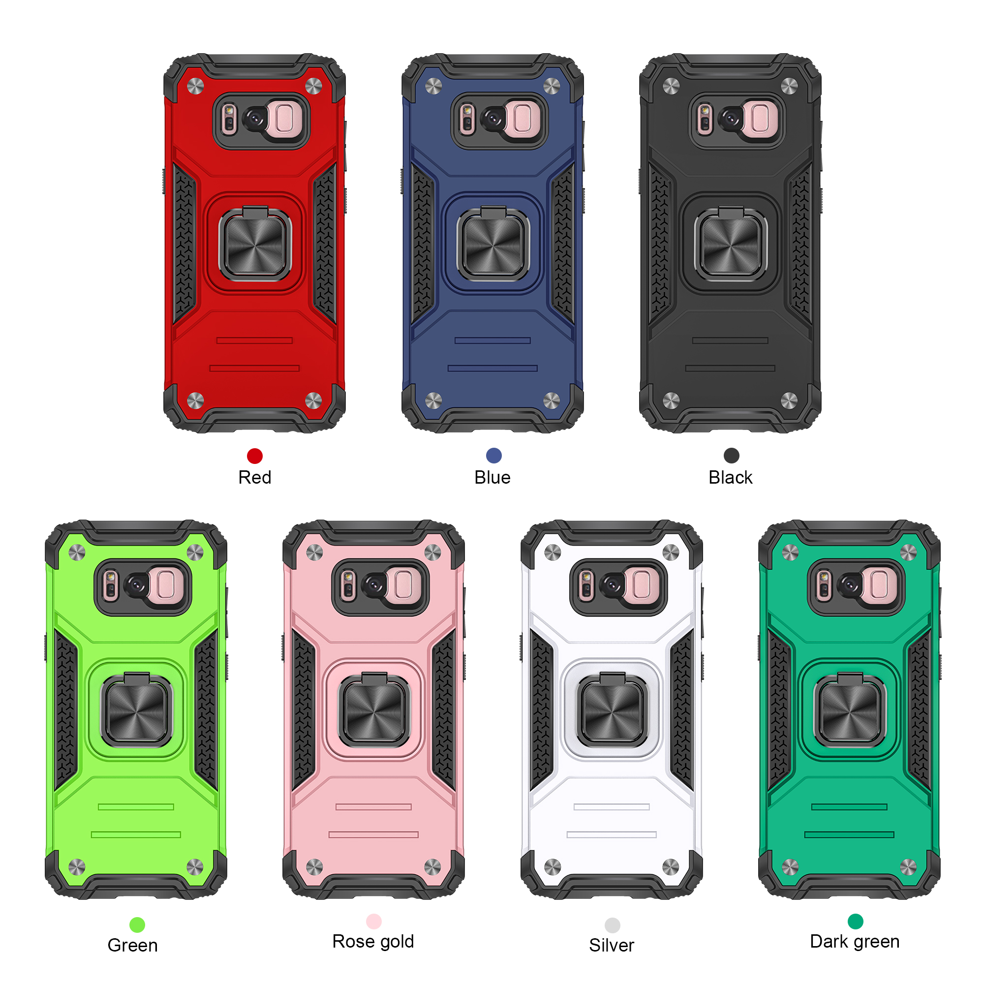Suitable for Samsung S8 plus ring Kemeng armor personalized mobile phone case all inclusive fall protection case
