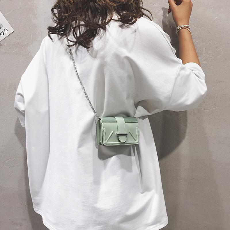 夏天迷你小包包女包新款2019纯色百搭链条单肩斜挎包个性小方包潮