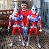 超大号奥特曼玩具男孩儿童迪迦泰罗赛罗银河超人变身器变形套装