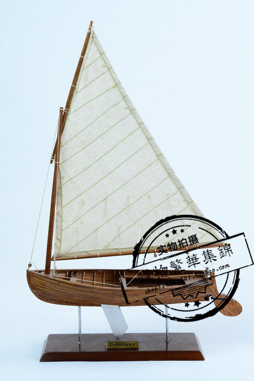 カヌー11手作り木製の帆船模型プレゼント置物客間