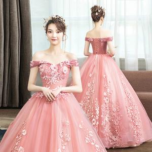 新款婚纱走秀主持人声乐艺考演出服
