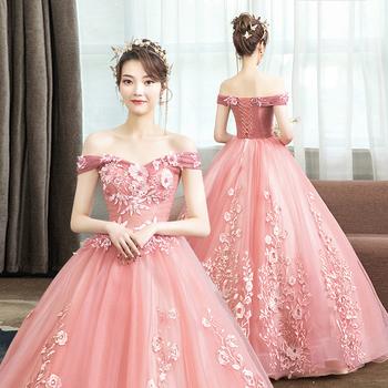 新款婚纱迎宾独唱蓬蓬裙年会演出服