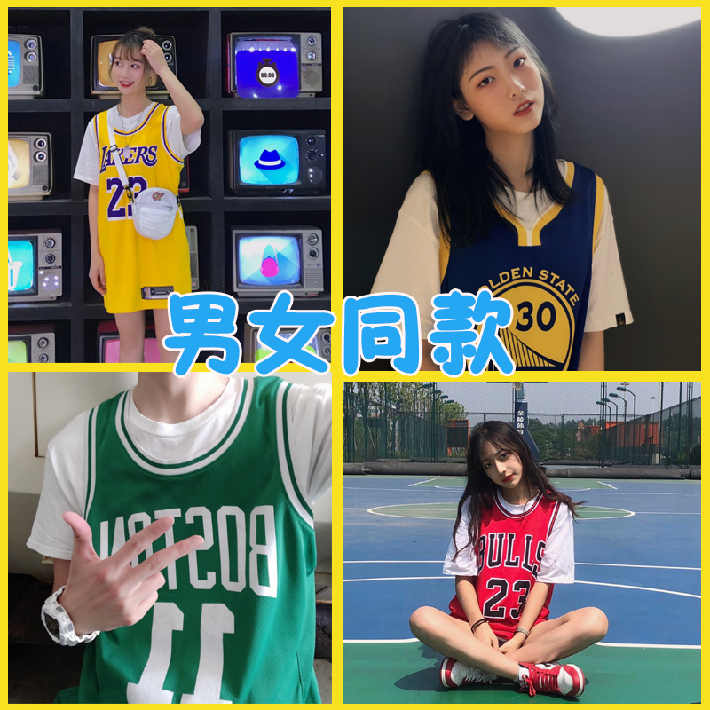 湖人队23号詹姆斯球衣科比背心男女情侣欧文库里篮球服外穿韩版bf图片
