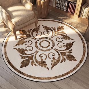 美式卧室客厅茶几转椅圆形家用门垫