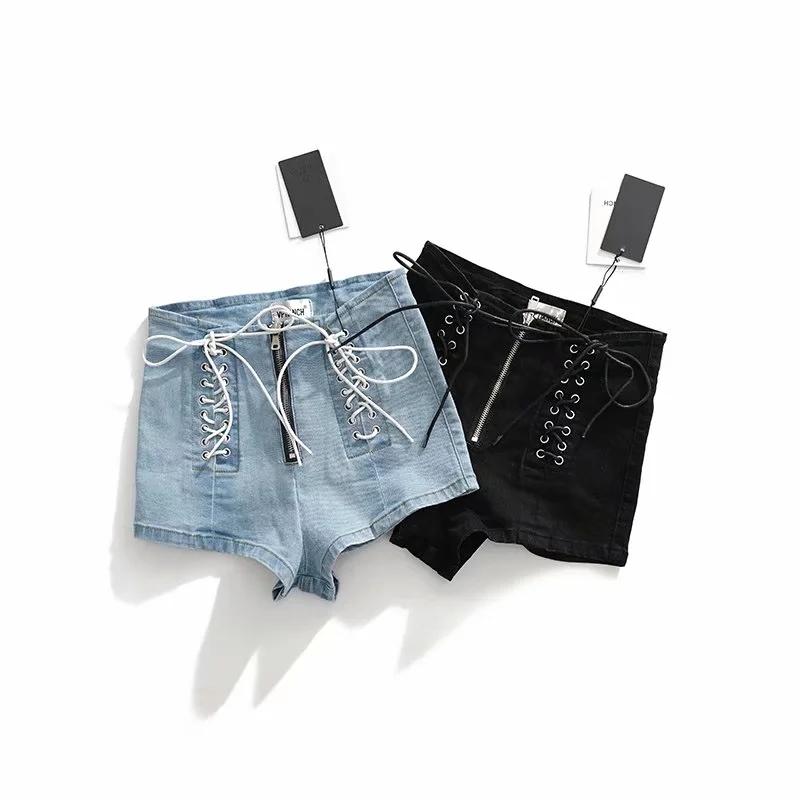 Womens summer fashion 2020 new Hong Kong style chic high waist thin sexy hot pants