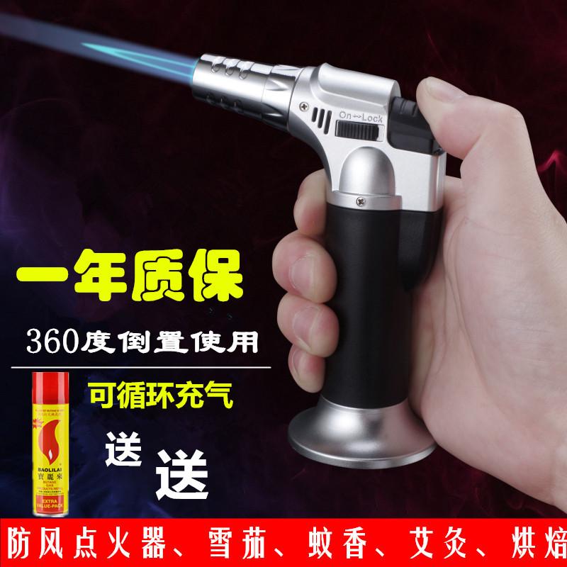 创意便携式高温焊抢家用小型喷火枪防风打火机点火器雪茄喷枪艾灸 Изображение 1