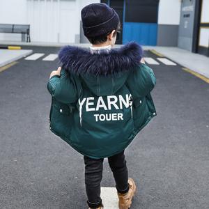 男童棉服冬装2019新款韩版儿童棉袄中长款加厚外套洋气宝宝棉衣潮