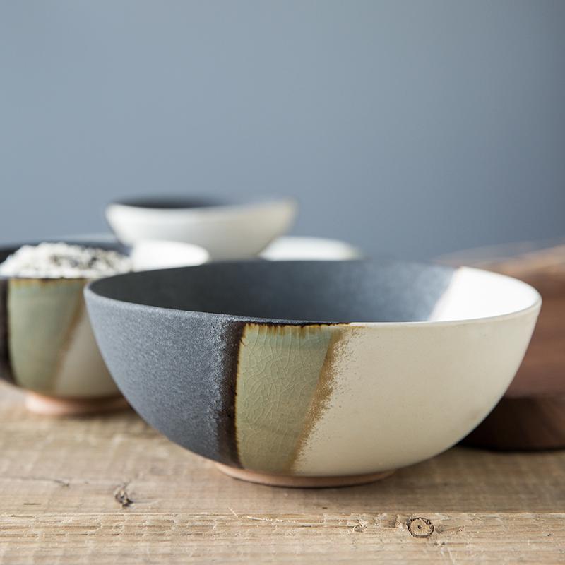 华联亿嘉 创意日式餐具个性复古粗陶瓷碗饭碗小碗面碗大碗家用