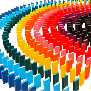 多米諾骨牌 兒童益智成人比賽標準1000片 積木製機關玩具3-6-10歲