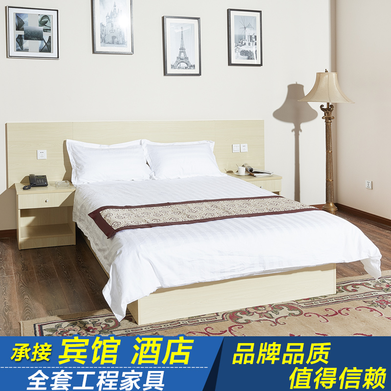 Hotel bed hotel furniture bed hotel furniture bed standard room single room full customized hotel bed double bed board bed